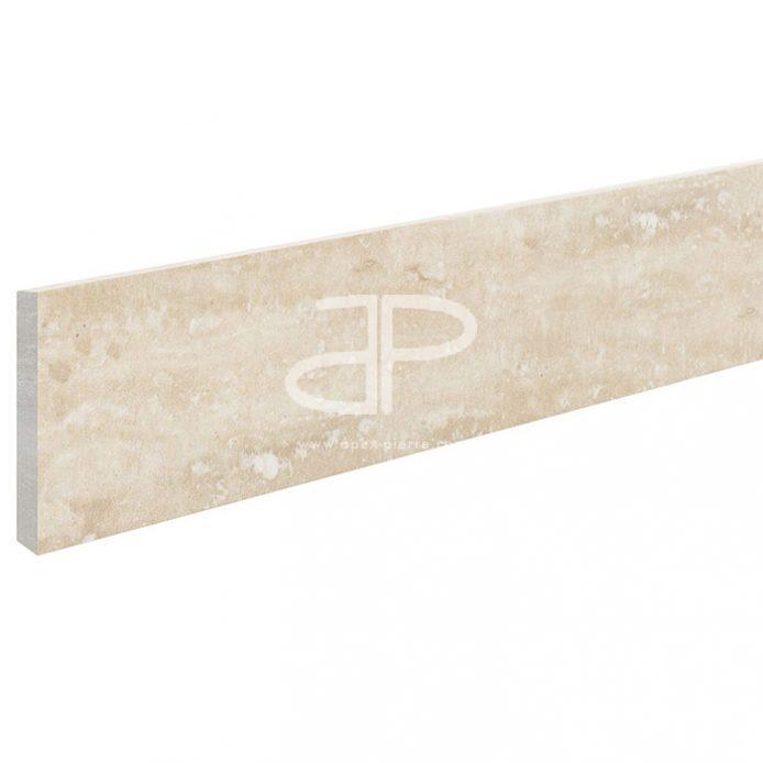Plinthe Travertin 40,6 x 7 x 1,2cm 1er choix Clair
