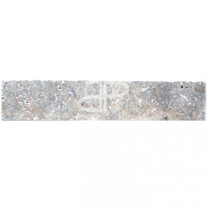 Plinthe Travertin 40,6 x 7 x 1,2cm 1er choix Silver