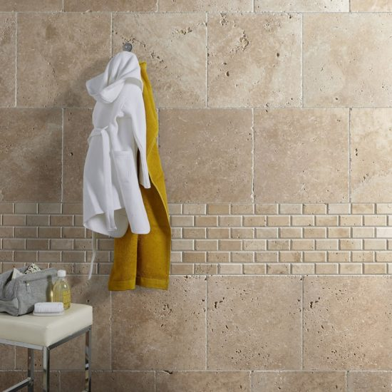 travertin mur beige effet pierre
