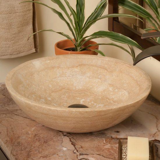 vasque ronde en pierre