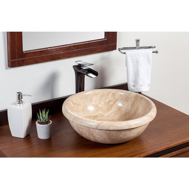 Vasque ronde en travertin